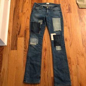 Hudson Elle patch jeans. Size 28